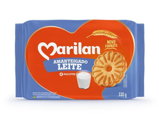 Biscoito amanteigado leite - Marilan - 330g