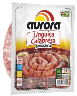 Linguiça calabresa enroladinha - Aurora - 800g