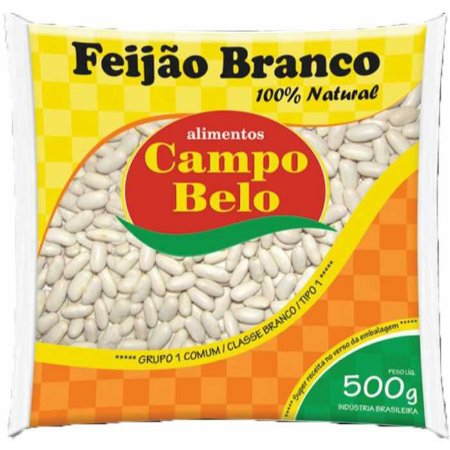 FEIJAO BRANCO TIPO 1 - CAMPO BELO - 500g
