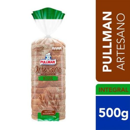 Pao de forma integral artesano - Pullman - 500g