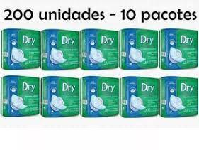 200 ABSORVENTES ATACADO GERIÁTRICO DRY ECONOMICS - 10 PACOTES