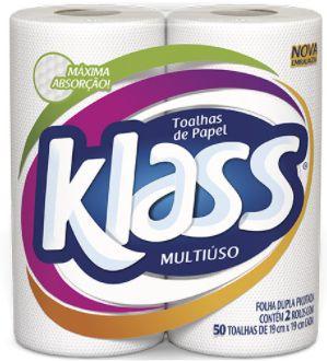 Papel toalha 50 folhas - Klass - 2un