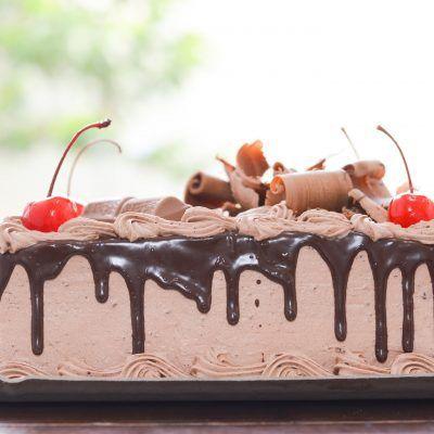 Bolo de chocolate - 1kg em media