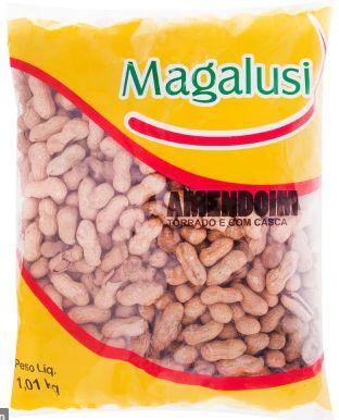 AMENDOIM COM CASCA - MAGALUSI - 1kg