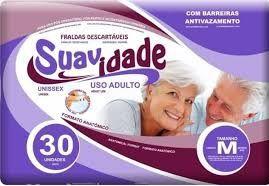 FRALDAS DESCARTÁVEIS - SUAVIDADE - G-M-EG - FARDO COM 4 PARA REVENDA