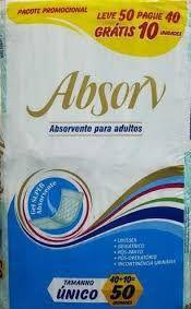 ABSORVENTE PARA ADULTOS - ABSON - TAMANHO UNICO - 50 UNIDADES