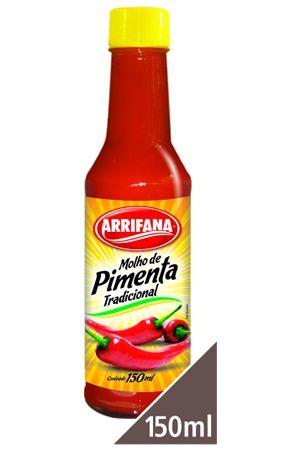 MOLHO PIMENTA VERMELHA - ARRIFANA - 150ml