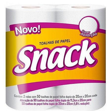 Papel toalha folha dupla - Snack - 2un