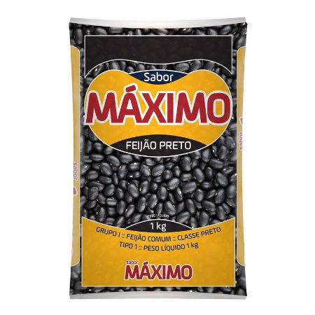 FEIJAO PRETO - SUPER MAXIMO - 1kg