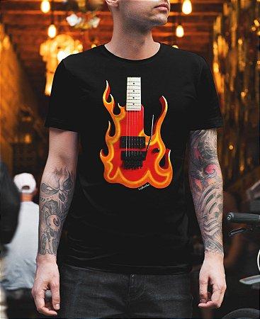 Camiseta Guitarra Fire