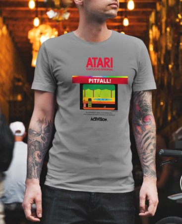 Camiseta Games Retrô Pitfall