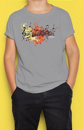 Camiseta Infantil Notas Musicais