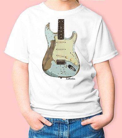 Camiseta Infantil Guitarra Stratocaster Relic
