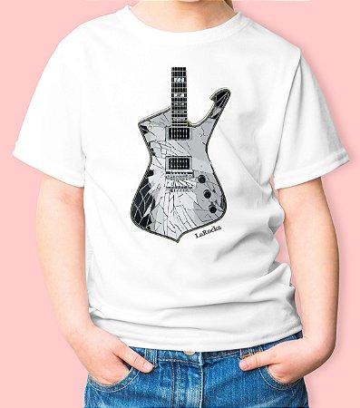 Camiseta Infantil Guitarra Espelho