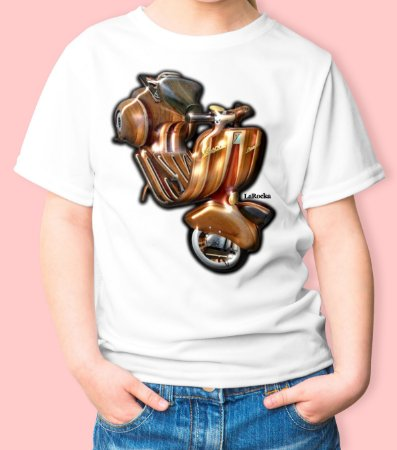 Camiseta Infantil Vespa Madeira - Wooden