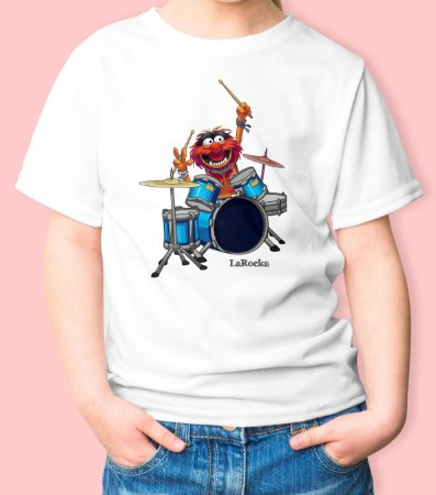 Camiseta Infantil Baterista Animal
