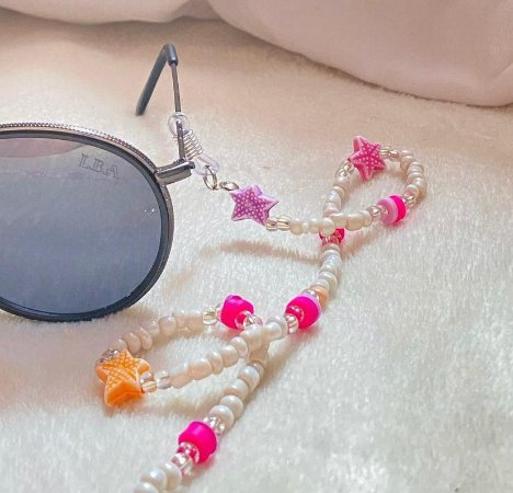 Cordinha para Óculos de Miçangas Coloridas