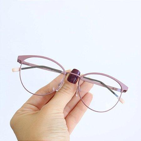 Armação de Óculos de Grau Sardenha Rosa Seja Cereja
