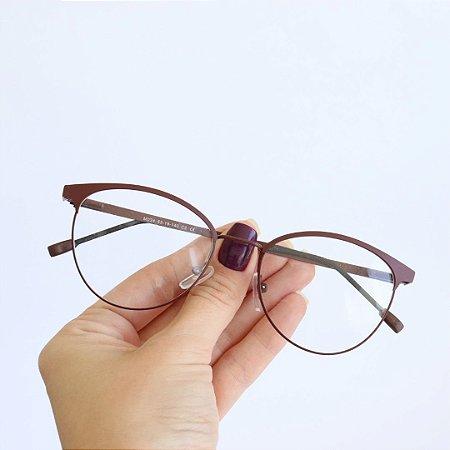 Armação de Óculos de Grau Sardenha Marrom Seja Cereja