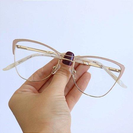 Armação de Óculos de Grau Gatinho Valência Seja Cereja