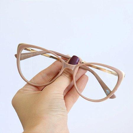 Armação de Óculos de Grau Versalhes Nude Seja Cereja