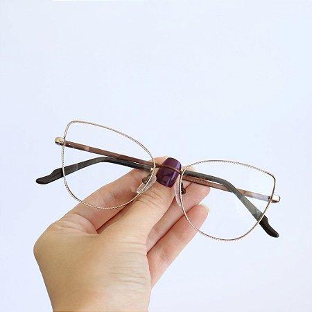 Armação de Óculos de Grau Lucena Bronze Seja Cereja