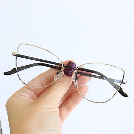 Armação de Óculos de Grau Lucena Preto Seja Cereja