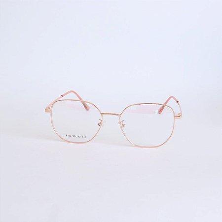 Armação de óculos de Grau Hexagonal Mobile Rose Seja Cereja