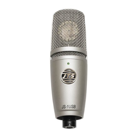 Microfone Condensador de diafragma grande para estúdio com USB - JS-1USB