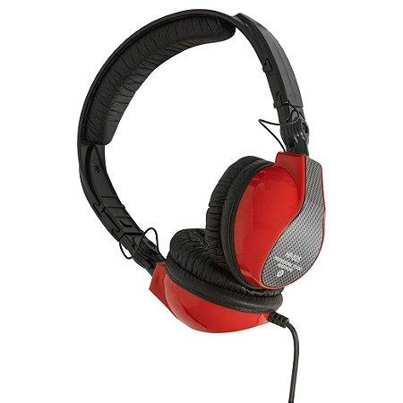 Fone de ouvido para DJ - Vermelho Ferrari - HP-525RD