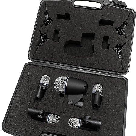 Kit de Microfones para percussão com 5 microfones - Série TX - TXB-5M1