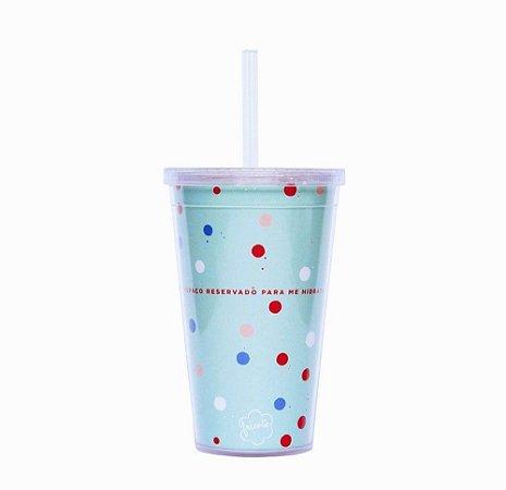 Copo com Canudo - Hidratar