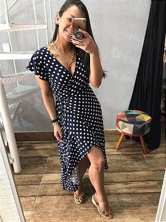 Vestido Poá Azul