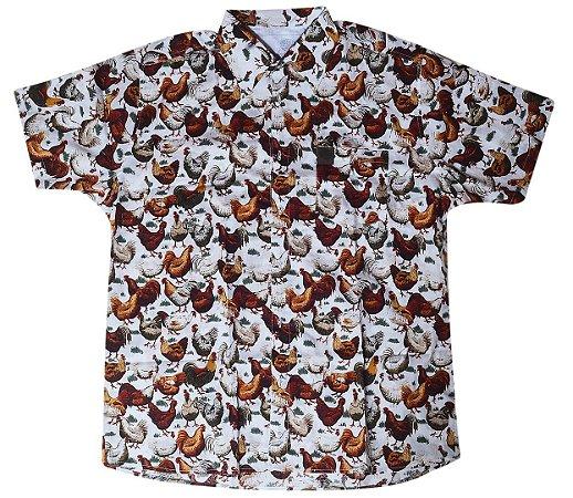 Camisa Galinhas Branca