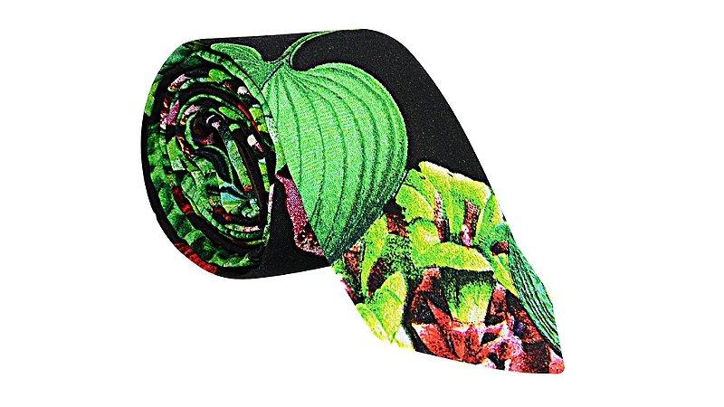 Gravata Black Floral