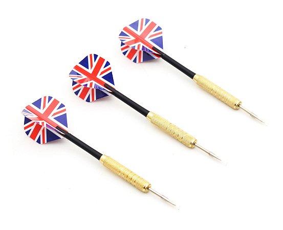 Kit 3 Dardos Profissionais 18 Gramas Bandeira Inglaterra