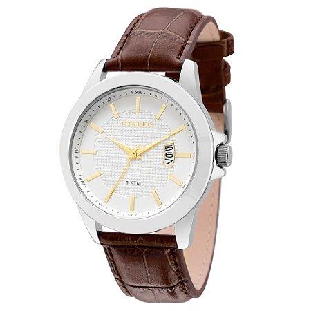 Relógio Technos Classic Steel Analógico Masculino 2115KNL/1K