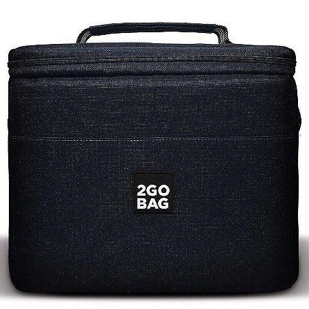 Bolsa Térmica 2goBag 4All Fun PRO 4 a 8 Refeições e Acessórios | Black