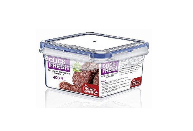 Pote Hermético Click Fresh 400ml Para Armazenar Alimentos