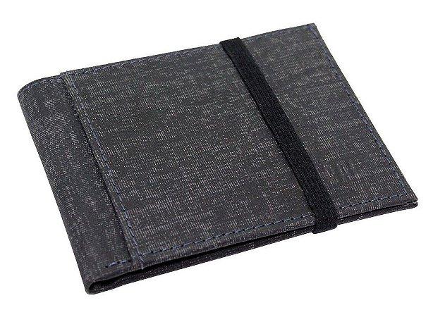 Carteira Stone Jeans Couro Azul | Ref CSJ509A