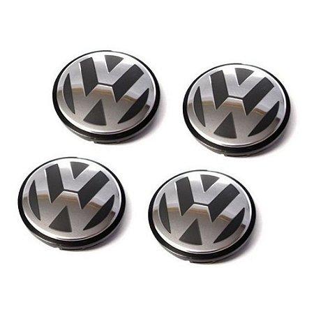 Kit com 4 Calotas Central Para Rodas - Original VW