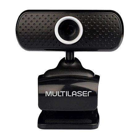 Webcam Multilaser 480p USB com Microfone - WC051