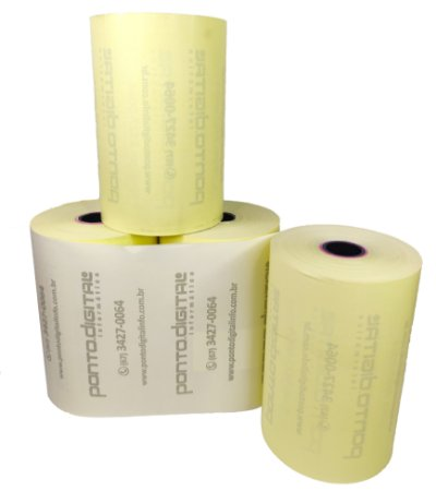 Bobina Térmica Amarela 80mmx40m Ponto Digital - Caixa com 30 Unidades