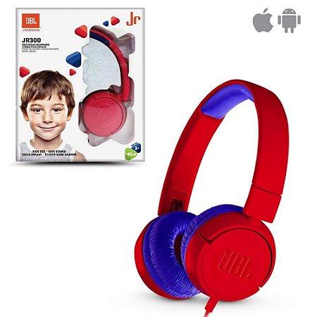 FONE DE OUVIDO HEADPHONE JBL JR300 RED