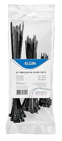 ABRAÇADEIRA NYLON 4.8X300MM ELGIN COM 10 PRETA