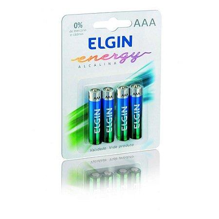 PILHA ELGIN ALCALINA AAA LR03 COM 04