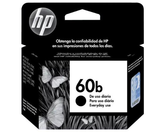 CARTUCHO HP CC636WB PRETO (60B) 7ML
