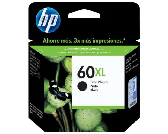 CARTUCHO HP CC641WB PRETO (60XL) 13.5 ML