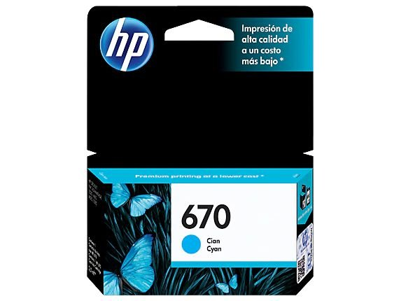 CARTUCHO HP CZ114AB CIANO (670) 4ML