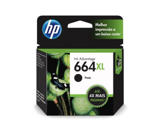 CARTUCHO HP F6V31AB PRETO (664XL) 8.5ML